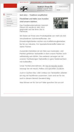 Vorschau der mobilen Webseite www.olsson-hannover.de, Heinrich Olsson KG