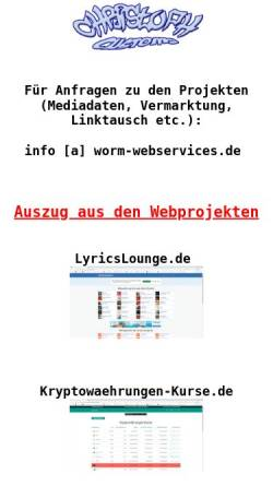 Vorschau der mobilen Webseite www.worm-webservices.de, Worm Webservices, Christoph Worm