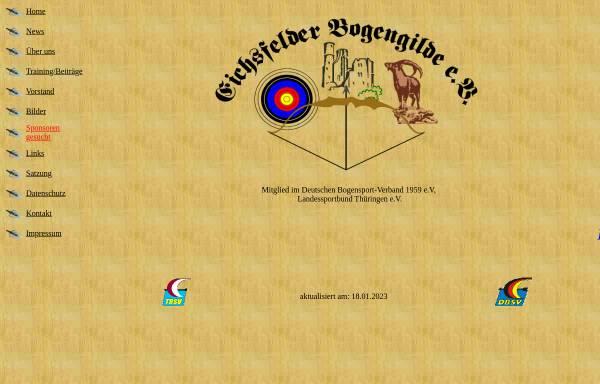 Vorschau von www.eichsfelder-bogengilde.de, Eichsfelder Bogengilde e.V.