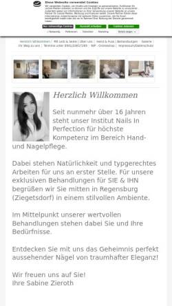 Vorschau der mobilen Webseite www.nailsinperfection.com, nailsinperfection