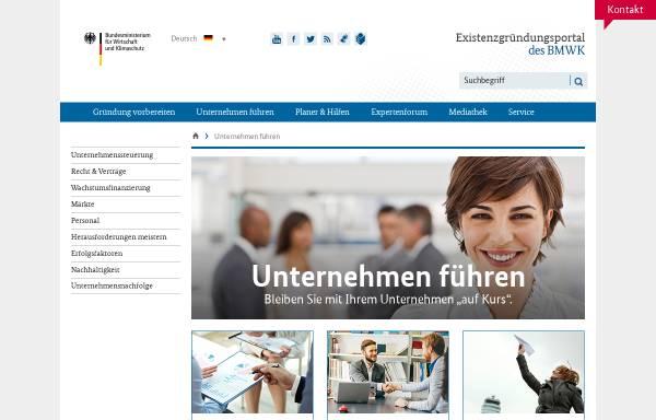 Vorschau von www.bmwi-unternehmensportal.de, Unternehmensportal - BMWi