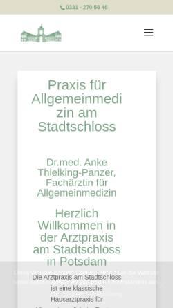 Vorschau der mobilen Webseite dr-thielking.de, Arztpraxis Nauener Tor