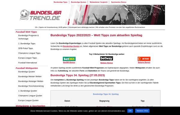Vorschau von www.bundesligatrend.de, Bundesliga - Trend