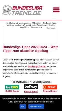 Vorschau der mobilen Webseite www.bundesligatrend.de, Bundesliga - Trend
