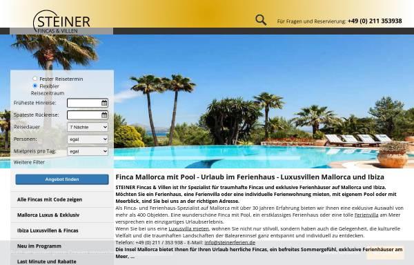 Vorschau von www.steinerferien.de, Steiner Fincas und Villen