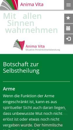 Vorschau der mobilen Webseite situative-persoenlichkeitsberatung.com, Anima Vita