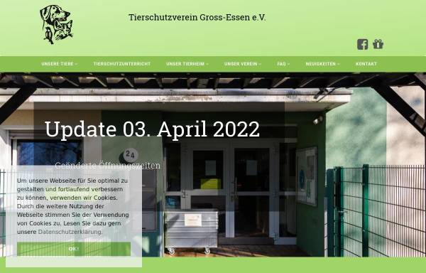 Vorschau von www.tierheim-essen.org, Tierschutzverein Groß-Essen e.V.