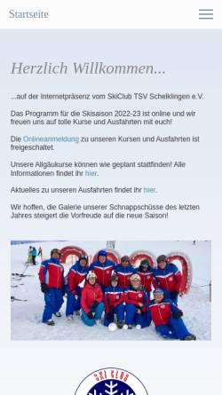 Vorschau der mobilen Webseite www.skiclub-schelklingen.de, SkiClub Schelklingen