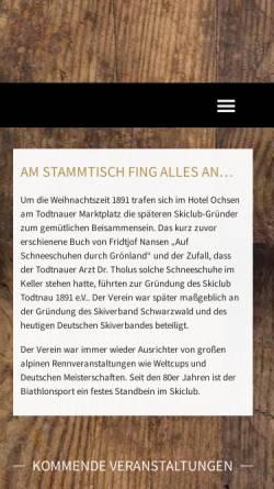 Vorschau der mobilen Webseite www.skiclub-todtnau.de, Skiclub Todtnau 1891 e.V.