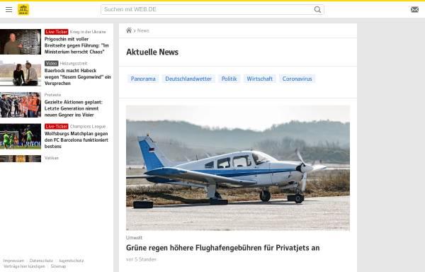 Vorschau von web.de, Web.de - Nachrichten
