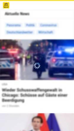 Vorschau der mobilen Webseite web.de, Web.de - Nachrichten