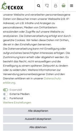 Vorschau der mobilen Webseite www.holzterrarium.de, Holzkonzept Wegner