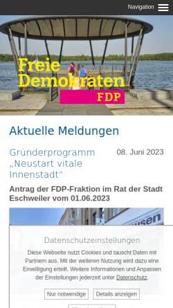 Vorschau der mobilen Webseite www.fdp-eschweiler.de, FDP-Stadtverband Eschweiler