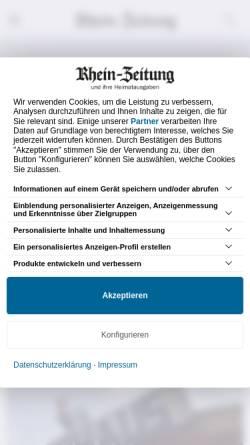 Vorschau der mobilen Webseite www.rhein-zeitung.de, Rhein-Zeitung NewsTicker
