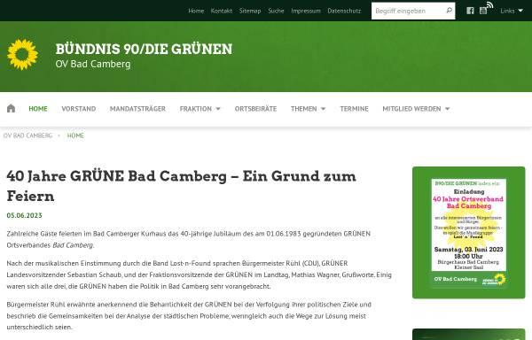 Vorschau von gruene-badcamberg.de, Bündnis 90/Die Grünen Bad Camberg