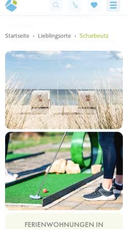 Vorschau der mobilen Webseite www.urlaub-scharbeutz.de, Ferienhäuser Anita und Egon Lübke