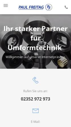 Vorschau der mobilen Webseite www.paul-freitag.de, Paul Freitag GmbH & CO. KG