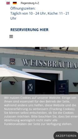 Vorschau der mobilen Webseite www.regensburger-weissbrauhaus.de, Regensburger Weissbräuhaus
