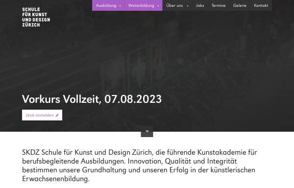 Vorschau von www.skdz.ch, Schule für Kunst und Design Zürich