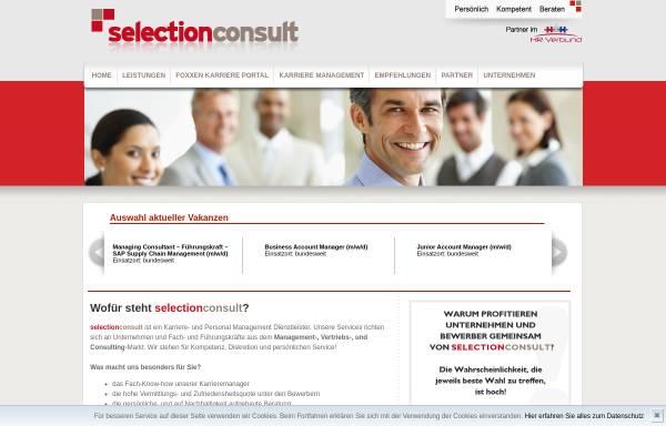 Vorschau von www.selectionconsult.de, Selectionconsult GmbH