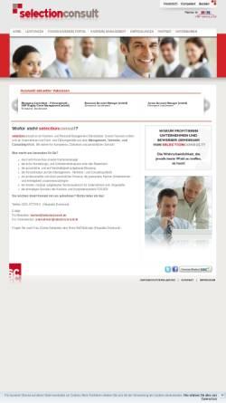 Vorschau der mobilen Webseite www.selectionconsult.de, Selectionconsult GmbH