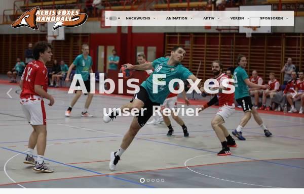 Vorschau von www.albisfoxes.ch, Albis Foxes Handball