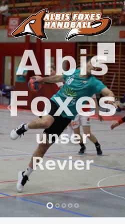 Vorschau der mobilen Webseite www.albisfoxes.ch, Albis Foxes Handball