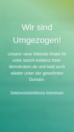 Vorschau der mobilen Webseite www.fdp-bezirk-koblenz.de, FDP-Bezirksverband Koblenz