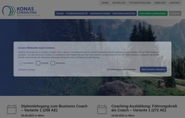 Vorschau von www.konas-consulting.com, Konas Consulting Akademie - Konas Consulting Unternehmensberatung GmbH