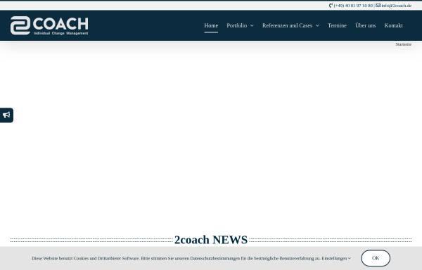 Vorschau von www.2coach.de, 2coach Personal- und Unternehmensberatung Henrichs und Schiemann