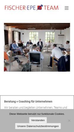 Vorschau der mobilen Webseite www.fischer-epe.de, Fischer-Epe & Team