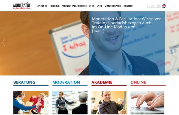 Vorschau von www.moderation.com, Moderatio - Seifert & Partner GmbH