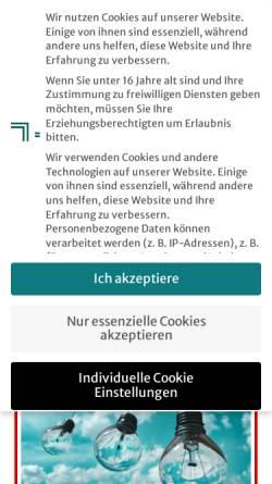 Vorschau der mobilen Webseite www.simon-weber.de, Simon, Weber & Friends GmbH - Gunthard Weber, Fritz Simon et. all.
