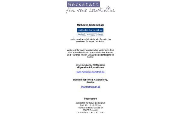 Vorschau von www.neue-lernkultur.de, Werkstatt für Neue Lernkultur -Weiterbildungsberatung