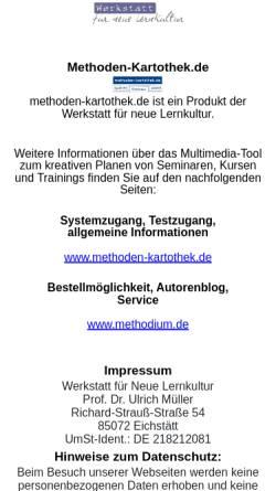 Vorschau der mobilen Webseite www.neue-lernkultur.de, Werkstatt für Neue Lernkultur -Weiterbildungsberatung
