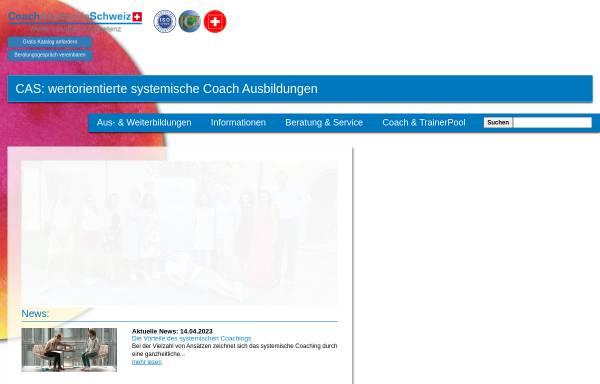 Vorschau von www.coachakademie.ch, Coachakademie Schweiz
