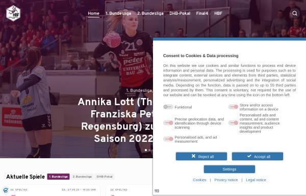 Vorschau von www.hbf-info.de, Handball-Bundesliga Frauen