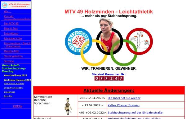 Vorschau von www.mtv49leichtathletik.de, MTV 49 Holzminden - Leichtathletik