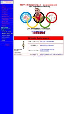 Vorschau der mobilen Webseite www.mtv49leichtathletik.de, MTV 49 Holzminden - Leichtathletik