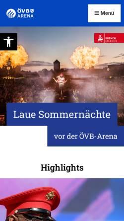 Vorschau der mobilen Webseite www.bremen-arena.com, Bremen Arena