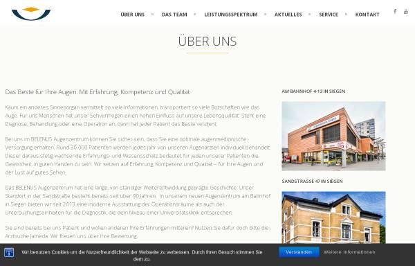 Vorschau von www.belenus-siegen.de, BELENUS Augenzentrum Siegen