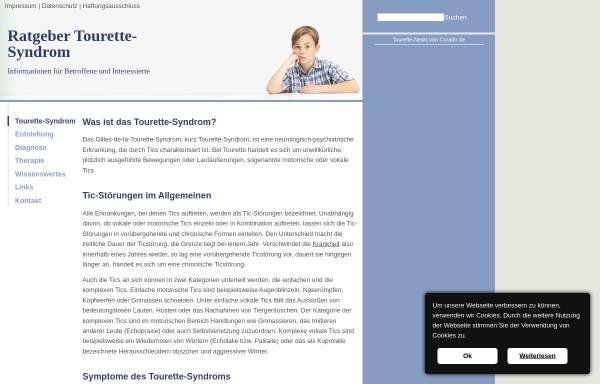 Vorschau von www.tourette-syndrom.net, Ratgeber Tourette-Syndrom
