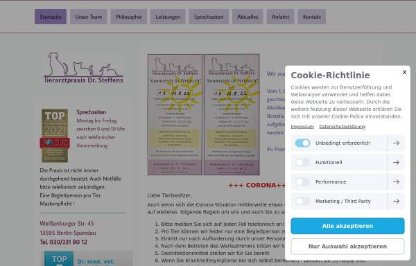 Vorschau von www.tierarzt-in-spandau.de, Kleintierpraxis Dr. med. vet. Petra Steffens