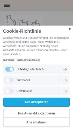 Vorschau der mobilen Webseite www.tierarzt-in-spandau.de, Kleintierpraxis Dr. med. vet. Petra Steffens
