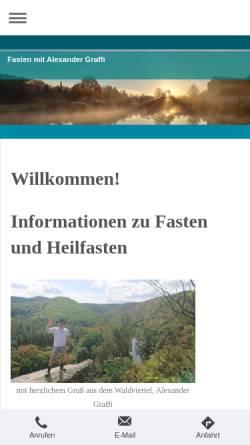 Vorschau der mobilen Webseite www.fastenfueralle.com, Fasten für Alle