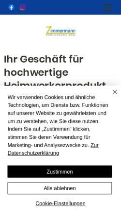 Vorschau der mobilen Webseite www.profihandwerk.com, Matthias Zimmermann Baudekoration GmbH