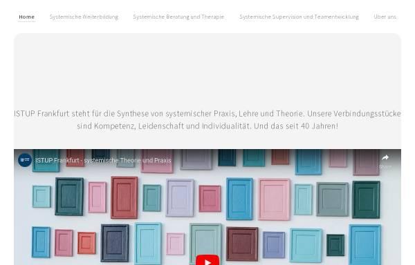 Vorschau von www.istup-ffm.de, Institut für systemische Theorie und Praxis Frankfurt