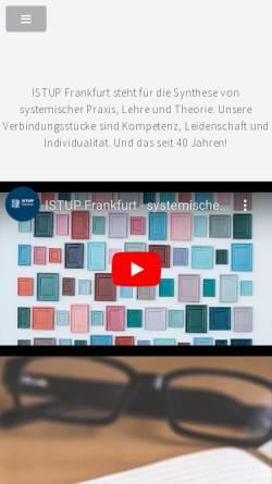 Vorschau der mobilen Webseite www.istup-ffm.de, Institut für systemische Theorie und Praxis Frankfurt