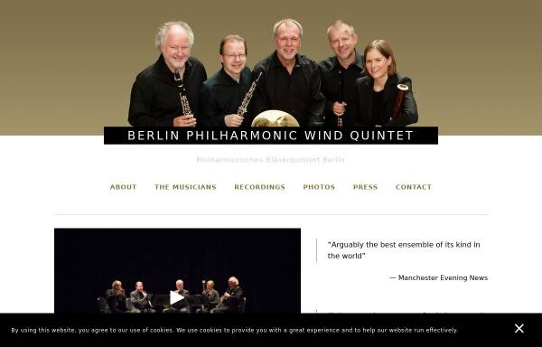 Vorschau von www.windquintet.com, Philharmonisches Bläserquintett Berlin