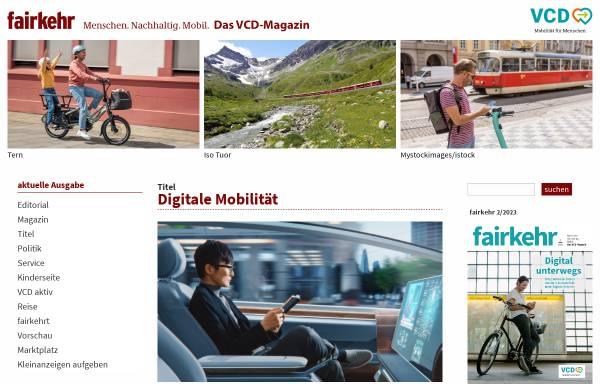 Vorschau von www.fairkehr-magazin.de, fairkehr